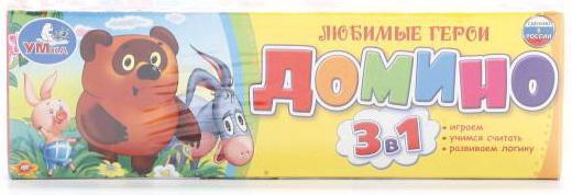 Настольная игра домино УМКА Винни-Пух настольная игра домино стеллар хорошие знакомые 9