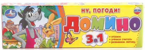 цены Настольная игра домино УМКА Ну, погоди!