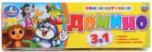 Настольная игра домино УМКА Союзмультфильм настольная игра домино стеллар хорошие знакомые 9