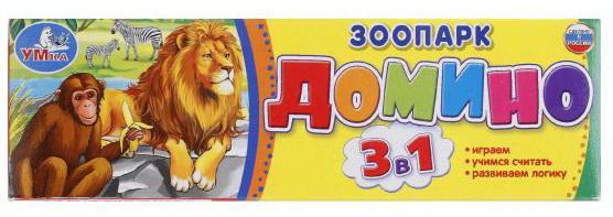 Настольная игра домино УМКА Зоопарк развивающая игра rico домино зоопарк
