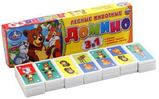 Настольная игра домино УМКА Лесные животные 3-в-1 picnmix обучающая игра лесные животные