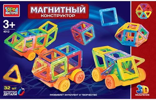 """МАГНИТНЫЙ КОНСТРУКТОР """"ГОРОД МАСТЕРОВ"""": 32 МИНИ-ДЕТАЛИ, ЦВЕТ В АССОРТ. В РУСС. КОР.XB-4012-R"""