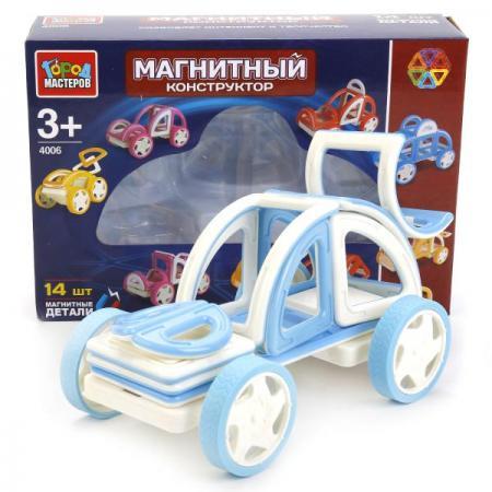 Купить Магнитный конструктор Город мастеров Магнитный конструктор 14 элементов, Детские конструкторы