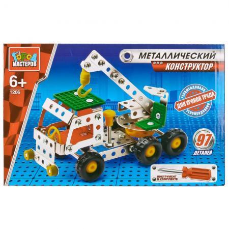 цены Металлический конструктор Город мастеров Кран 97 элементов VV-1206-R