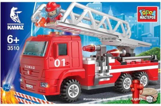 Конструктор Город мастеров Пожарная машина с лестницей 126 элементов banbao пожарная машина инерционная 126 детале