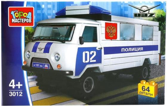 цена на Конструктор Город мастеров УАЗ 452 64 элемента