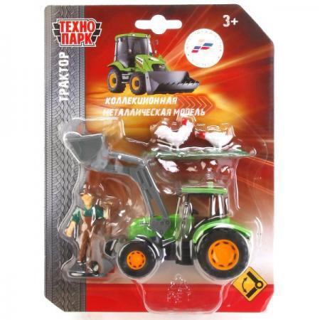 Трактор ТЕХНОПАРК ТРАКТОР 13 см зеленый U1407B-1