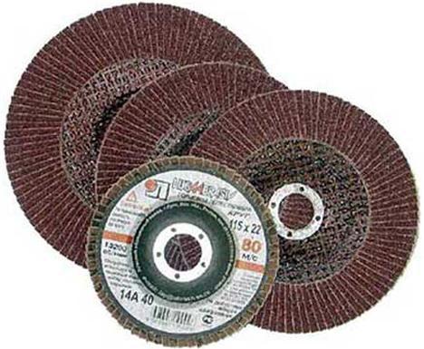 Лепестковый круг 115 Х 22 Р100 (№16) КЛТ тип 1 круг лепестковый 125х22 р100 16 luga