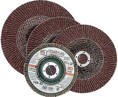 Лепестковый круг 125 Х 22 Р240(№5) КЛТ тип 1 бумага наждачная fit 11 5 х 5 м р240