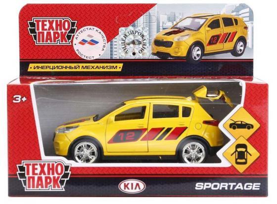 Инерционная машинка ТЕХНОПАРК Kia Sportage желтый технопарк машинка инерционная уаз hunter вооруженные силы