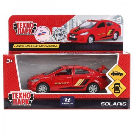 Автомобиль Технопарк HYUNDAI SOLARIS красный SOLARIS-SPORT технопарк машинка инерционная hyundai solaris цвет голубой