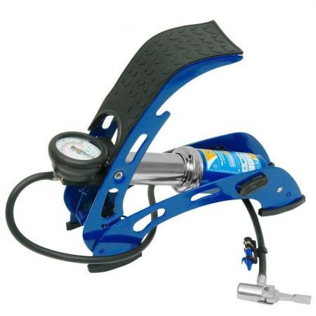Насос KRAFT КТ 810001 ножной с манометром 1 цилиндр с супер сумкой парогенератор с утюгом silter super mini 2000m 1литр с манометром