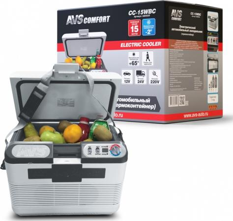 Холодильник автомобильный AVS CC-15WBС 15л 12V/24V/220V програмное управление