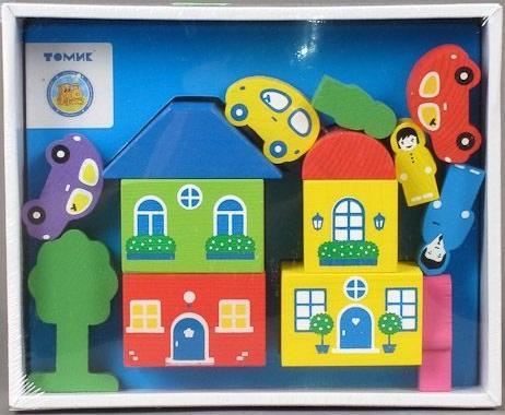 КОНСТРУКТОР ЦВЕТНОЙ ГОРОДОК 14ДЕТ. СИНИЙ в кор.20шт деревянные игрушки томик конструктор цветной городок синий 14 деталей