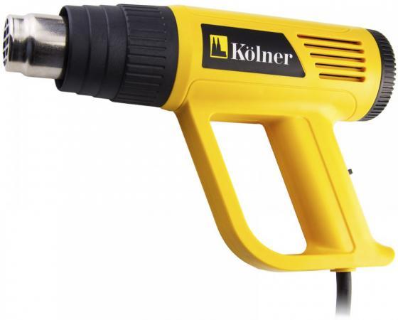 Фен технический Kolner KHG 2000 2000Вт производительность 150/300/500 л/мин kolner kolner kac 24 l компрессор масляный коаксиальный 1 5 квт 24 л 206 л мин 2850об мин 8 атм