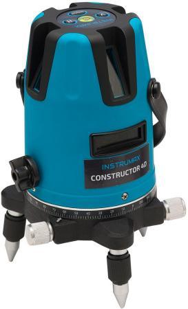 Лазерный нивелир INSTRUMAX Constructor 4D дальность20(70)м точн.±2мм/10м ±3° 5линий 3хАА/1.5 5/8 нивелир instrumax constructor 4d