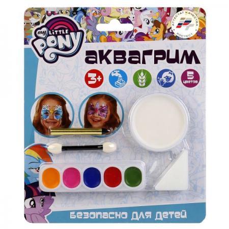 Аквагрим MultiArt My Little Pony 6 цв. красок, спонж, аппликатор, крандаш на блистере в кор.6*24шт всё для лепки multiart пластилин классический восковый my little pony 6 цветов
