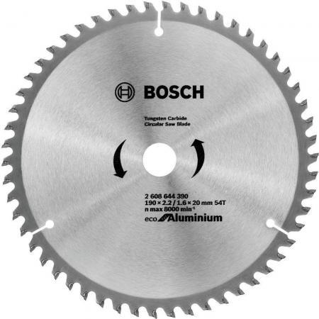 Диск пильный твердосплавный BOSCH ECO AL 190x30-54T (2.608.644.389) по алюминию диск пильный bosch multiline eco по алюминию 250x30мм 80 зубьев