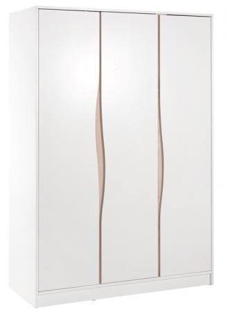 Фото - Шкаф трехстворчатый Wave, белый/бук шкаф трехстворчатый лиса