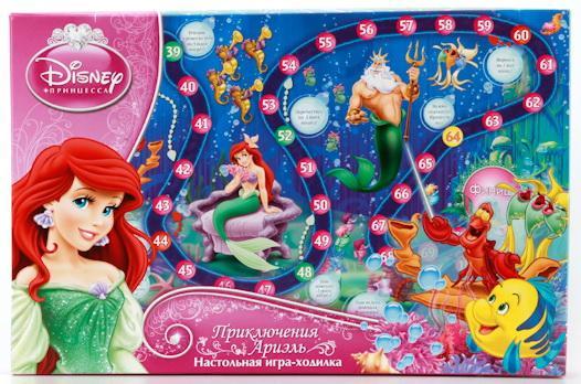 Настольная игра ходилка УМКА Принцессы Диснея настольная игра эврики аквамозаика принцессы 2933734