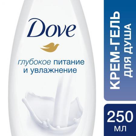 Гель для душа Dove Глубокое питание и увлажнение 250 мл 67116606 saa6588t