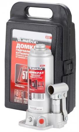 Домкрат MATRIX 50756 бутылочный 5т h подъема 216–413мм в пласт. кейсе домкрат matrix 50754