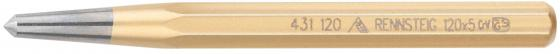 Кернер RENNSTEIG RE-4311200 120x10x5 шлифованная и полированная поверхность добойник rennsteig re 4460060 бородки обжимка для заклепочной головки 110x6 16mm 8kt