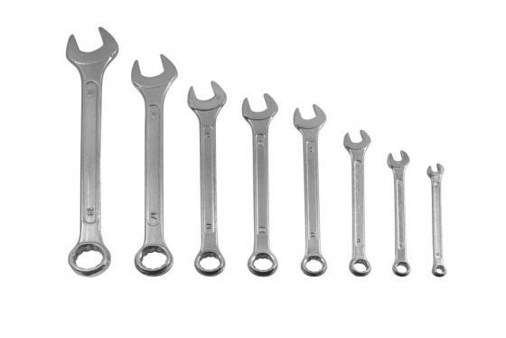 Набор комбинированных ключей FIT 63424 (8 - 19 мм) 8 шт. force 5121 набор комбинированных ключей 8 23 мм