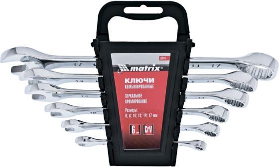 Набор комбинированных ключей MATRIX 15414 (6 - 17 мм) 6 шт. набор комбинированных ключей 6 22мм 9шт matrix 15424