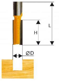 Фреза ЭНКОР 46027 паз прямая ф12х51мм хв12мм фреза энкор 10529 кромочная прямая ф19х50 8мм хв12мм