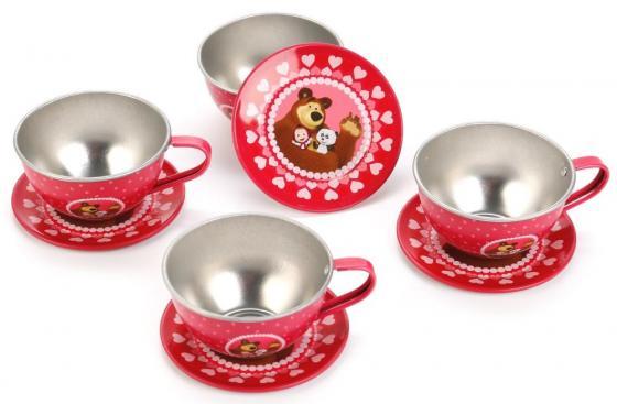 Набор посуды Играем вместе Маша и Медведь металлическая играем вместе набор посуды играем вместе