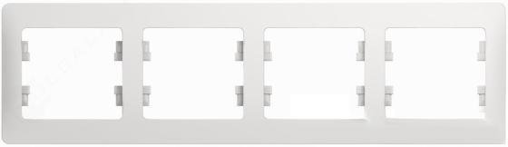 Рамка SCHNEIDER ELECTRIC GSL000104 Glossa 4-м горизонт. бел.