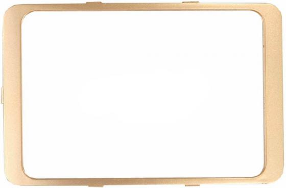 Рамка СВЕТОЗАР SV-54175-GM гамма декоративная золотой металлик двойная звонок электрический с кнопкой светозар нота 58037