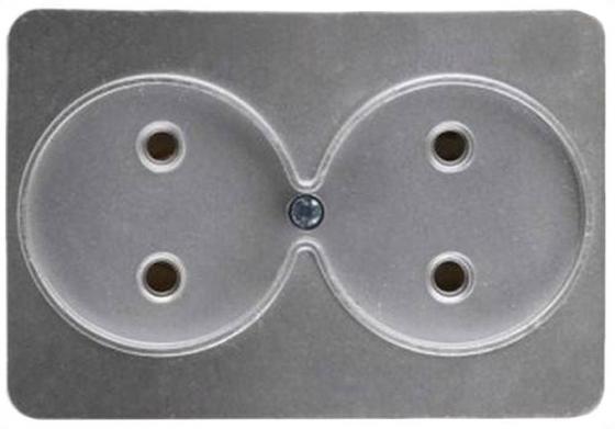 цена на Розетка СВЕТОЗАР SV-54102-SM гамма без заземления двойная без вставки и рамки светло-серый мета