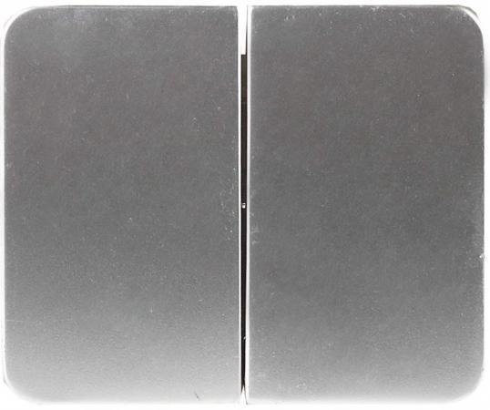 Выключатель СВЕТОЗАР SV-54134-SM гамма 2кл. 10А 250В без вставки и рамки светло-серый металлик