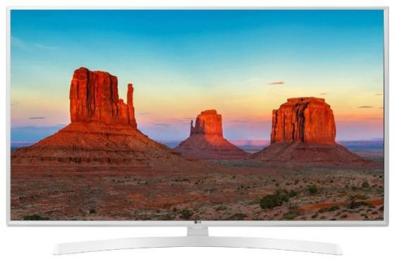 Телевизор 49 LG 49UK6390PLG белый 3840x2160 50 Гц Wi-Fi Smart TV RJ-45 Bluetooth телевизор 43 lg 43uk6390 4k uhd 3840x2160 smart tv usb hdmi bluetooth wi fi белый