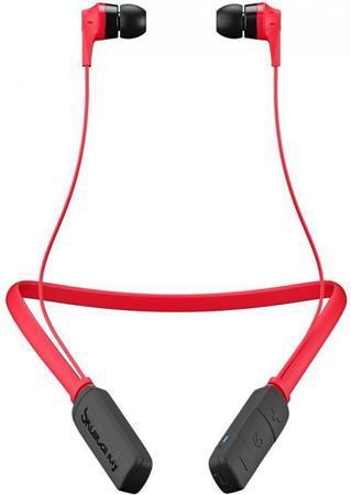 Наушники (гарнитура) Skullcandy INK'D 2.0 Wireless Red Беспроводная / Вставная с микрофоном / Красный-черный / до 7 ч / Bluetooth для сотовых телефонов htc и bluetooth беспроводная гарнитура наушники наушники hm5800
