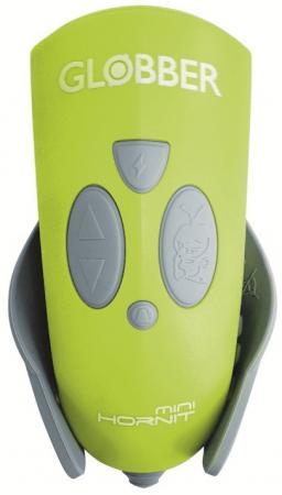 Звонок-фонарик Globber Mini Hornit салатовый 525-106 электронный сигнал globber mini hornet зеленый