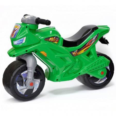 Каталка-мотоцикл RT Racer RZ 1 пластик от 18 месяцев на колесах зеленый