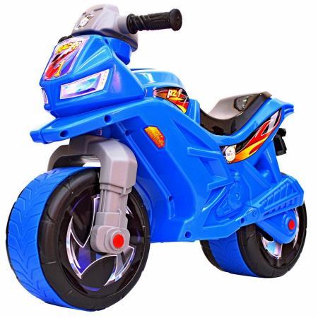 Каталка-мотоцикл RT Racer RZ 1 пластик от 18 месяцев на колесах синий каталка беговел rt самоделкин пластик от 1 года на колесах бирюзовый