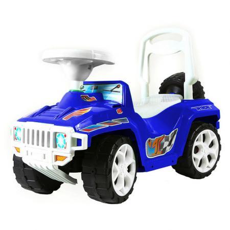 все цены на Каталка-машинка RT RACE MINI Formula 1 Полиция пластик от 10 месяцев на колесах бело-синий онлайн