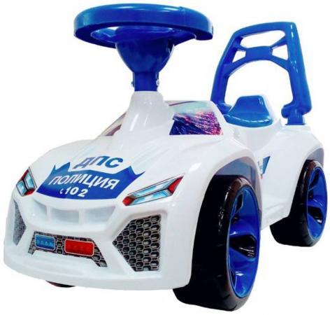 все цены на Каталка-машинка RT Ламбо - Полиция пластик от 10 месяцев на колесах бело-синий онлайн