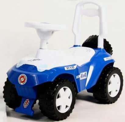 Каталка-машинка RT Ориоша пластик от 10 месяцев на колесах синий каталка машинка rt ретро бордовый от 10 месяцев пластик