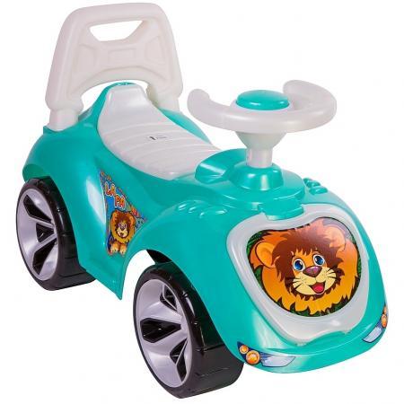 Каталка-машинка RT Мишка (LAPA) пластик от 10 месяцев на колесах бирюзовый каталка беговел rt самоделкин пластик от 1 года на колесах бирюзовый