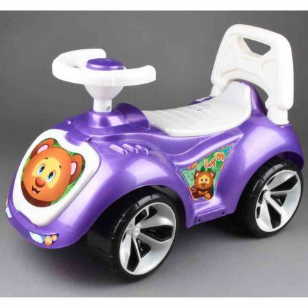 Каталка-машинка RT Мишка (LAPA) пластик от 18 месяцев на колесах фиолетовый разноцветная мозаика кораблик 2604