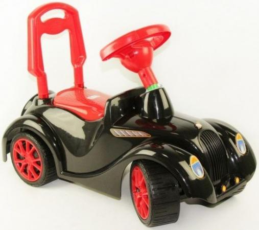 Каталка-машинка RT Ретро пластик от 10 месяцев с гудком черный каталка машинка rt ретро бордовый от 10 месяцев пластик