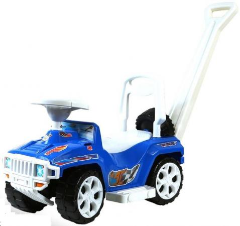 Каталка-машинка RT RACE MINI Formula 1 пластик от 10 месяцев с ручкой для родителей синий цена