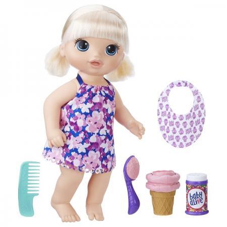 Игрушка кукла Малышка с мороженным цена