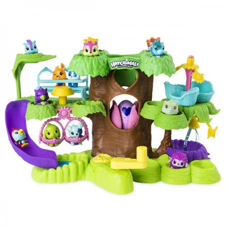 Игрушка Hatchimals игровой набор Детский сад для птенцов рюкзак сумка детский пушистый кролик цвет серый