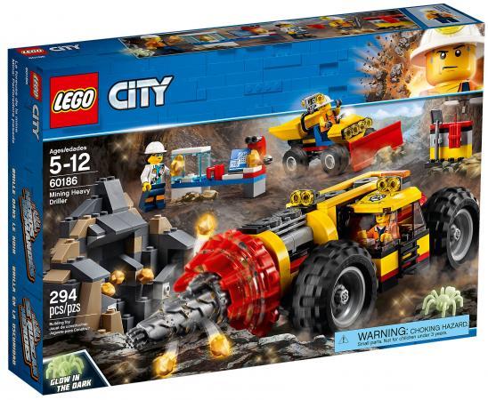 Конструктор LEGO City: Тяжелый бур для горных работ 294 элемента 60186 конструктор lego city багги для поездок по джунглям 53 элемента 60156